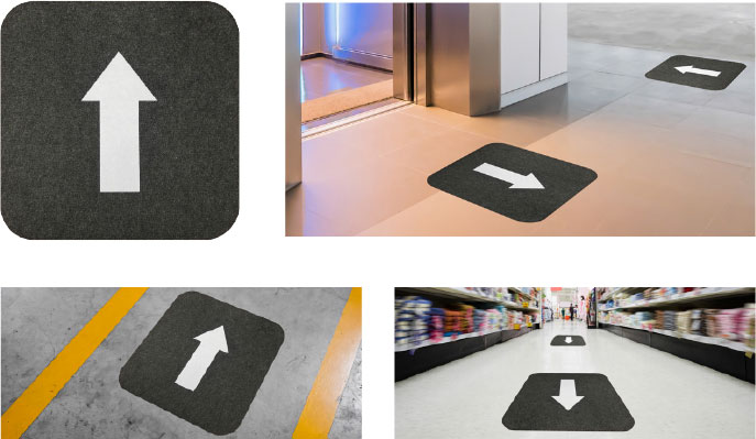 Stick-and-Stand™ Mats