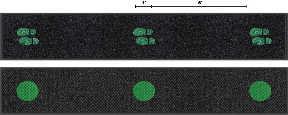 18'x3' Safe Distance Berber mat.